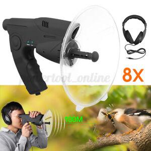 8X Birds Sound Amplifier Listening & Observing Device  Recording Watcher