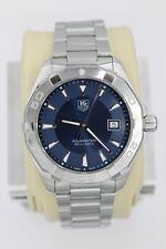 Tag Heuer WAY1112.BA0910 Blue Aquaracer Watch Mens SS BOX MINT CRYSTAL Silver