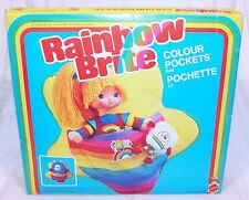 Mattel RAINBOW BRITE COLOUR POCKETS BED Accessorie Set #7570 MIB`83 VERY RARE!
