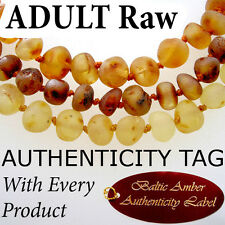 Authentic RAW BALTIC AMBER ADULT NECKLACE AGbA®