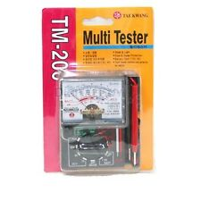 TAE KWANG TM-200 Multimeter Electric AC/DC Voltmeter Multi Tester /Made in Korea