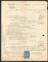 """AURILLAC (15) SUCCURSALE """"BANQUE DE FRANCE"""" en 1880 / Formulaire N°1034"""
