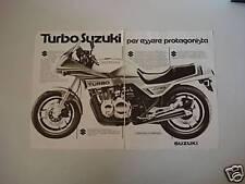 advertising Pubblicità DOPPIA 1982 SUZUKI XN 85 674 cc