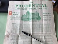 The Prudential Life Assurance Company Large policy  Ref 50774