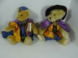 Vermont Teddy Bear 1993 Medieval Pair Jointed Boy Mohair Plush Signed Numbered
