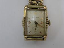 Vintage Bulova Watch Fancy Case 1952  21 Jewels