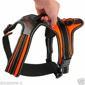 Heavy Duty-Padded Pet Dog Harness XL Large Medium Small Strap Soft Vest Collar
