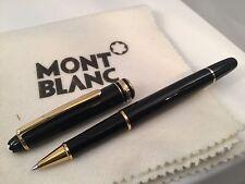Montblanc Classique Meisterstuck Rollerball Black w/ Gold Trim 163 12890