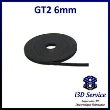 Gt2 belt width 6 mm no 2mm by the metre for 3d printer, a8 anet, prusa