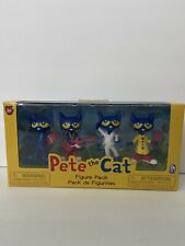 Pete The Cat~Toy Figure 4 Pack NEW~Skateboard Guitar Dancing Safety Officer