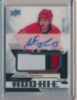 2018-19 Upper Deck Premier Rookie AUTO Patch Warren Foegele /249 Hurricanes