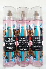 3 PACK Pink Magnolia 8 oz ea Fragrance Spray Body Mist Bath & and Body Works
