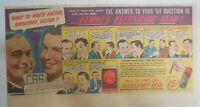 Eversharp Red Top Lead Ad: The Answer to $64 Question! 1940's Size: 7 x 15 in