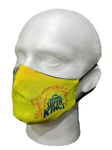 IPL 2021 Chennai Super Kings Face Mask T20, Cricket, India CSK, , Face Cover