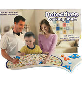 Brain Training Kids Detectives Looking Chart Board Intelligence Education Game