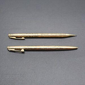 VTG Sheaffer Ballpoint Pen Pencil Set Grapes and Vines 1/30 12K Gold Filled USA