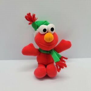 "Fisher Price Elmo Plush 8"" Holiday Christmas Mini Stuffed Animal 2000 Sesame"