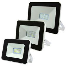 LED Floodlights Outdoor Security Flood Lights White Body 10W 30W 50W Slimline