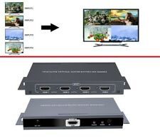 HDMI 4x1 HDMI Quad Screen Multiviewer Switcher With IR,Support Seamless Handover