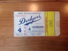 1955 Brooklyn Dodgers Only Championship Duke Snider Mantle World Series Ticket