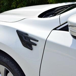 A Pair ABS Car Body Side Air Flow Vent Fender Decorative Shark Fin Sticker Trim