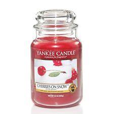 Yankee Candle Frasco Grande Vela Perfumada-cerezas en la nieve Ltd Edition 22oz