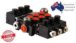 3 SPOOL Hydraulic Direct Solenoid Control Valve On-Off, 12V 50 l/min
