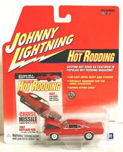 Johnny Lightning Popular Hot Rodding Red 1967 Olds Cutlass 442 Rubber Tires