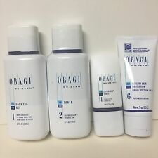 Obagi Set 4pcs Foaming Gel -Toner -Exfoderm Forte -Sun Healthy SPF 35 Normal/Oil
