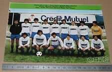 CLIPPING POSTER FOOTBALL 1980-1981 D2 RCFC BESANCON