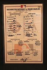 Bryce Harper Rookie Season Official MLB Authenticated Game Roster Card 2012