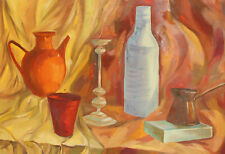 French post impressionist oil painting still life, signed P. Cezanne
