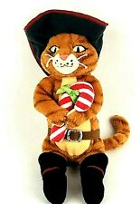 Ty Beanie Babies PUSS IN BOOTS Shrek the Halls 2008 Beanbag Plush Candy Cane