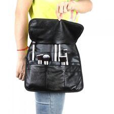 21 Pocket Professional PU Cosmetic Makeup Brush Bag Apron w/ Artist Belt Strap