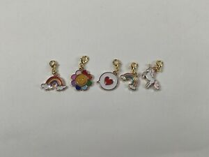 Rainbow lover sock knitting stitch marker set of 5