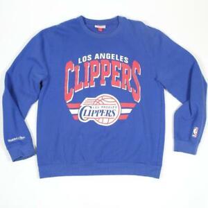 Mitchell & Ness Los Angeles Clippers NBA Men's Blue Crew Neck Sweatshirt X-Large