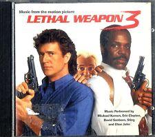 LETHAL WEAPON 3 (OST) CD Ottime Condizioni