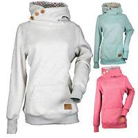 Women Cowl Neck Long Sleeve Sweatshirt Hoodie Casual Jumper Pullover Top Coat US