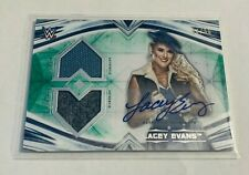 B16,199 - 2020 Undisputed WWE Dual Relic Autograph Green Lacey Evans #34/50