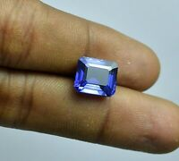 Certified Natural Ceylon Cornflower Blue Sapphire Emerald Cut 8.05 Ct. Loose Gem