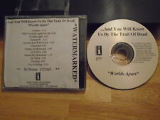 RARE PROMO And You Will Know Us By The Trail of Dead CD Worlds Apart watermark !