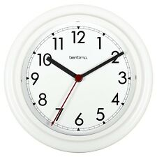 Office Wall Clock - Standard 230mm diameter white with black hands & second hand