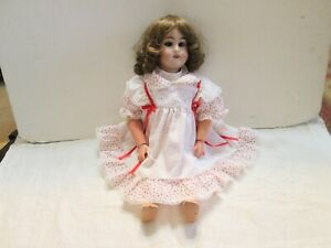 "Antique 18"" Bisque Head Doll Marked S & Q 101"