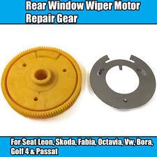1x Rear Window Wiper Motor Repair Gear For Seat Leon, Skoda, Vw Yellow Plastic