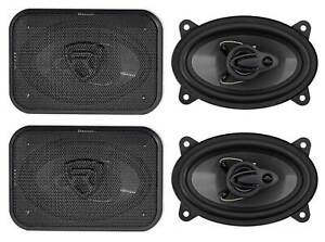 """(4) Rockville RV46.3A 4x6"""" 3-Way Car Speakers 1000 Watts/140 Watts RMS CEA Rated"""