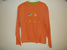BB Boomer Womens Orange LS Tunic With Flags sz L