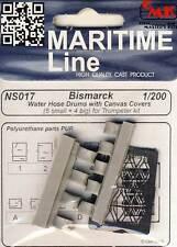 CMK Bismarck water pantalones Drums trossenrollen manguera para incendios 1:200 manguera de agua