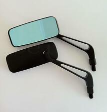 BLACK RECTANGLE CUSTOM MINI SIDE MIRRORS FOR VICTORY HYOSUNG KYMCO SCOOTER 50CC