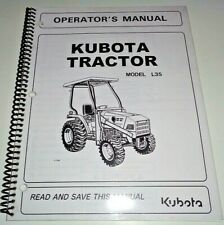 Kubota L35 Tractor Operators Owners Maintenance Manual OEM 4/04