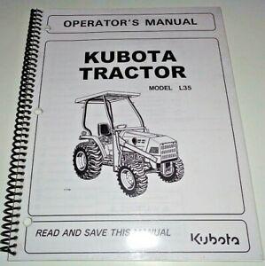 Kubota L35 Tractor Operators Owners Maintenance Manual OEM 4/04